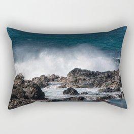 Lava Rock Ocean Spray Rectangular Pillow