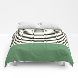 Moss Green x Stripes Comforters
