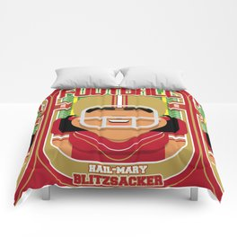 American Football Red and Gold - Hail-Mary Blitzsacker - Indie version Comforters