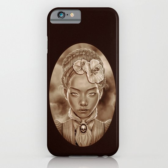 """""""VICTORIAN GHOST"""" iPhone & iPod Case"""