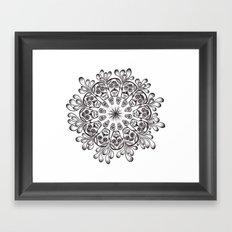 Sugar Skull Mandala Framed Art Print