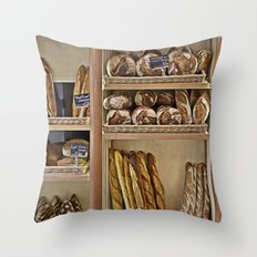 La Boulangerie Throw Pillow
