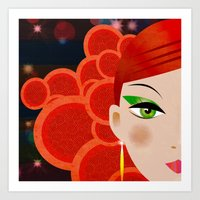 fierce Art Prints featuring Fierce. by Jonny Bateau