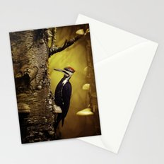 Pileated Woodpecker Forest Sunrise Stationery Cards