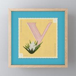 Sellos Naturales. Letter Y. Flower: Yuca Framed Mini Art Print