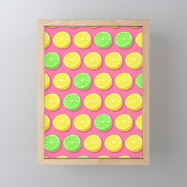 Lemons and Limes Framed Mini Art Print