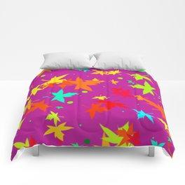 Forever Autumn Leaves purple 4 Comforters