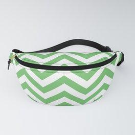 Spring Green Chevrons Pattern Design Fanny Pack