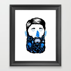 Pirate Beard Framed Art Print