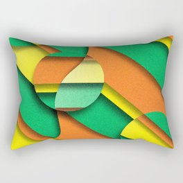 CIRLCES COME IN THREES Rectangular Pillow