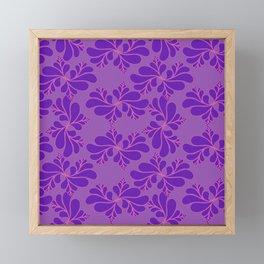 puprle floral pattern Framed Mini Art Print