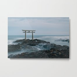 Ocean Shrine Metal Print
