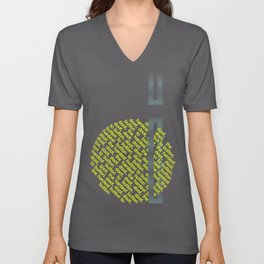 Button to Button - grey & chartreuse Unisex V-Neck