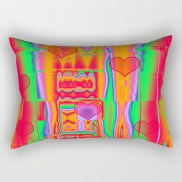 Modern abstract with cute hearts Rectangular Pillow