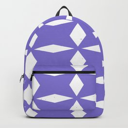 Light Blue Pattern Gemoetric Forms Backpack