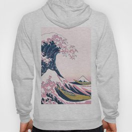 The Great Pink Wave off Kanagawa Hoody
