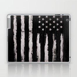 White Grunge American flag Laptop & iPad Skin