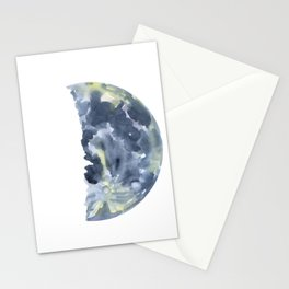 First Quarter Moon Watercolor Stationery Cards