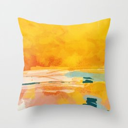 sunny landscape Throw Pillow