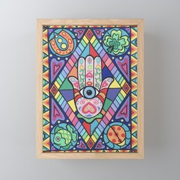 The Hand of Fatima - Good Fortune to You Framed Mini Art Print