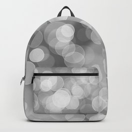 Black and White Silver Bokeh Backpack