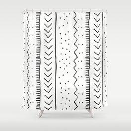 Moroccan Stripe in Cream and Black Shower Curtain