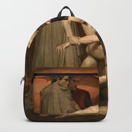 Dante and Virgil in Hell by William-Adolphe Bouguereau Backpack