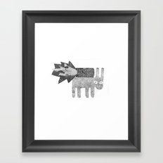 Quick Rabbits Framed Art Print