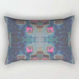 Toppled Ceramic Tiling Infared Style Rectangular Pillow
