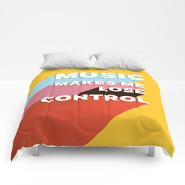 MUSIC MAKES ME - TYPOGRAPHY Comforters