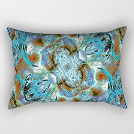 Turquoise Floral Fashion Rectangular Pillow