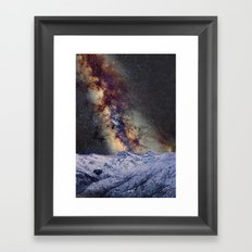 Sagitario, Scorpio and the star Antares over the hight mountains Framed Art Print