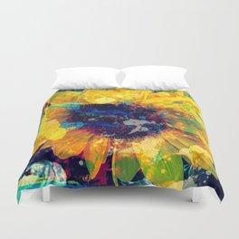 Sunflower Batik Duvet Cover