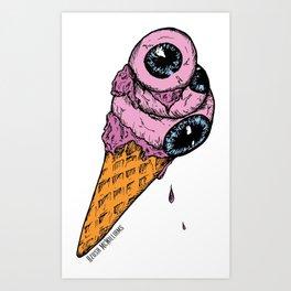 Eyescream Art Print