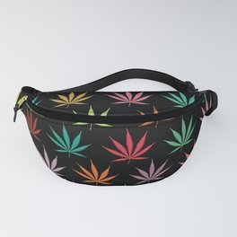 Cannabis Leaf Multi-coloured Pattern Fanny Pack
