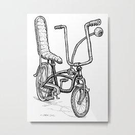 Cartoon Retro Mod Stingray Eyeball Shifter Muscle Bike Bicycle Metal Print