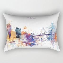 Colorful Toledo watercolor design Rectangular Pillow