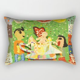 The cup of Rosalia | Full of fairy tales | Painting by Elisavet Rectangular Pillow