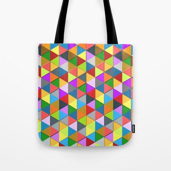Colorful triangle galore geometric pattern Tote Bag