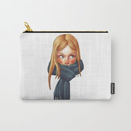 Blonde with Scarf Carry-All Pouch