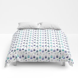 Blue tea bags Comforters