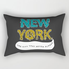 The Melted City, That Never Sleeps. Rectangular Pillow