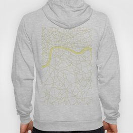 London White on Yellow Street Map Hoody