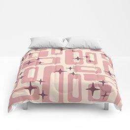 Retro Mid Century Modern Abstract Pattern 577 Dusty Rose Comforters