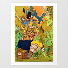 Icadinque The Gardener Art Print