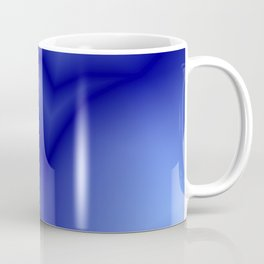 Pastel lines of blue lightning with a vintage gap. Coffee Mug