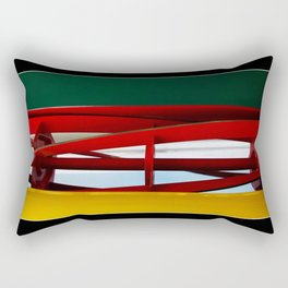 "tricolor lawnmower ""flag"" abstract Rectangular Pillow"