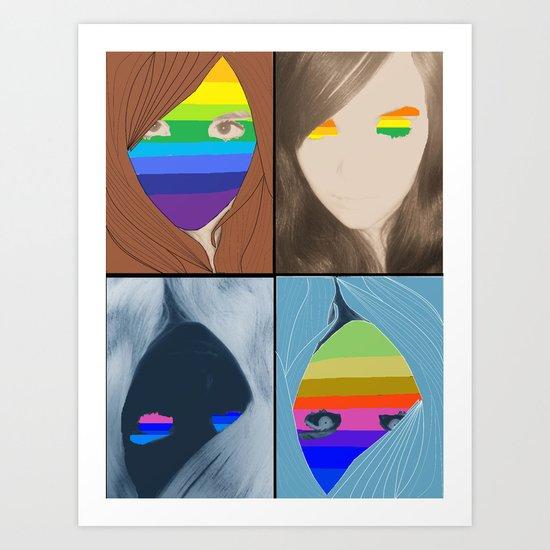 Double Rainbow Art Print
