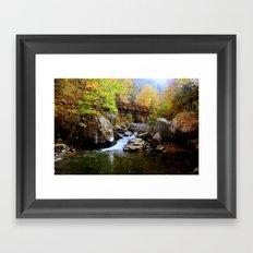 Bridge Over Water & Stone Framed Art Print