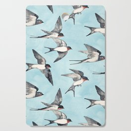 Blue Sky Swallow Flight Cutting Board